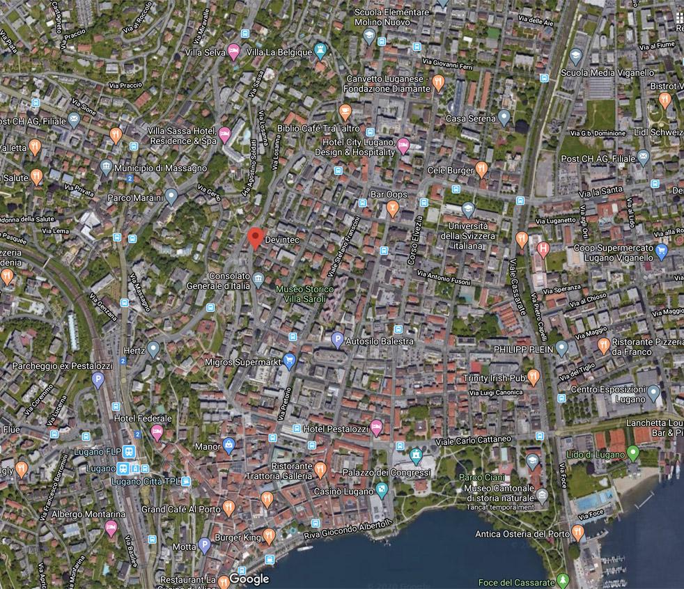 Devintec Pharma Lugano - Map